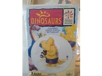 "Brand new ""Dinosaurs' Anchor COUNTED CROSS STITCH PICTURE KIT (8""/20cms diameter)"