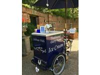 Vintage Ice Cream bikes, ice cream tricycle, ice cream cart.
