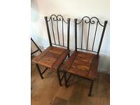 Two dining chairs for sale