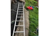 Single aluminium ladder solid and strong only £30