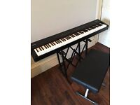 Roland FP-4 Digital Piano / Keyboard / Synthesizer in Excellent Condition with stand & stool