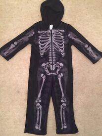 Boys Halloween Skeleton Costume 3-4 Years