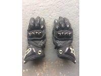Alpinestars motorcycle gloves, XL, Black, GP Pro, good condition