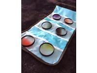 Colour filter lens add on for DSLR