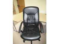Black office chair - for work or home study use - swivel / recline at desk Delivery possible