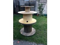 Wooden cable reels or spools