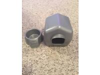 Small Grey hamster food bowl and House