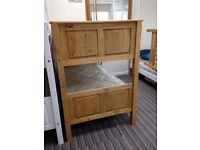 Single Solid Pine Bunk bed Frame, Corona Style, Waxed pine finish, includes mattresses - £200