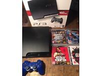 PS3 with GTA5 and BLUE controller