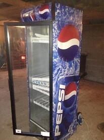 Pepsi max glass fronted fridge