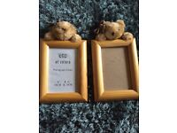 Picture Frames x2. Cute teddy feature. (Purchased for project never undertaken)