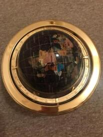 Mother of Pearl Rotating Globe with Compass