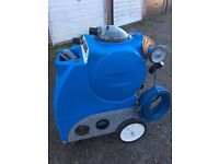 Carpet cleaning machine set up heater, hoses, hand tools, chemicals
