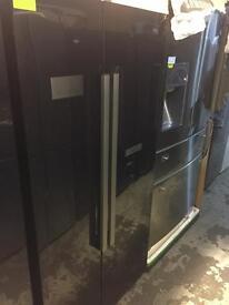 **JANUARY SALE** New Graded Beko American Fridge Freezer With Water Dispenser - BLACK RRP £899
