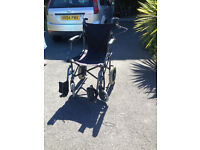 Folding Wheelchair with Bag
