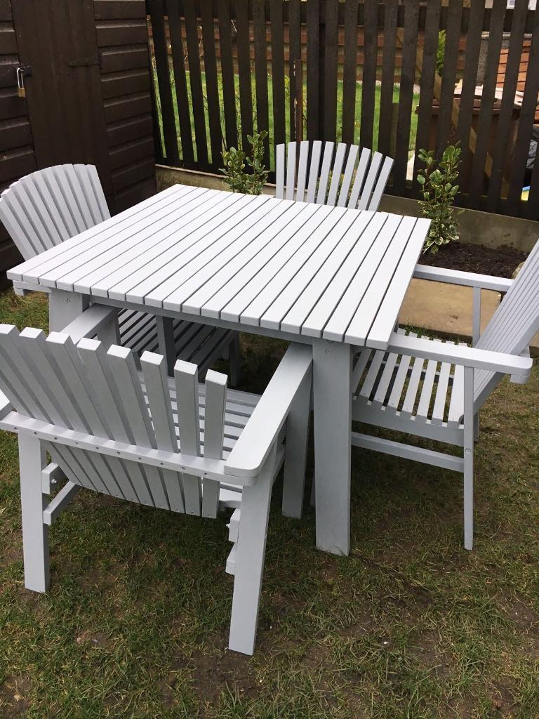 Stunning Sundero grey wooden garden furniture made in ...