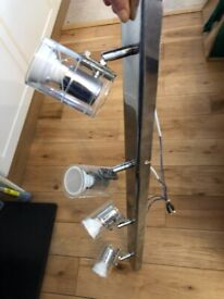 Chrome Spotlight Fittings 4 Bar and 4 Plate (Used - Possibly John Lewis)