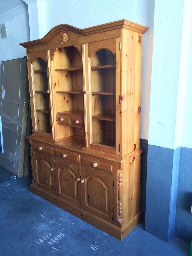 Pine welsh dresser with glass doors in blackford edinburgh pine welsh dresser with glass doors planetlyrics Gallery