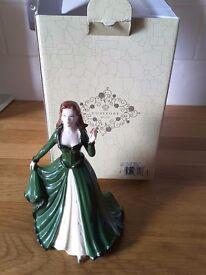Coalport Christmas figurine with box - perfect condition
