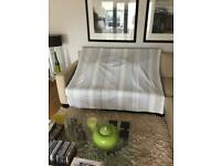 Laura Ashley Eaton stripe seaspray fabric