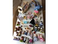 Sylvanians collections and vehicles