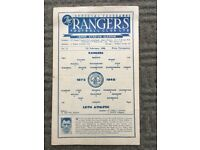 1948 Scottish Cup 2nd round football programme in great condition.