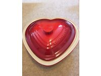 Le Creuset Deep Fill Heart Dish - NEW in box
