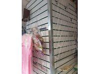 Newspaper shelves