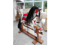 TRADITIONAL LARGE WOODEN ROCKING HORSE-COLLINSONS 48INCHES TALL
