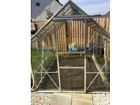 6x8 toughened Glass Greenhouse For Sale