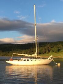 Classic Wooden Sailing Yacht
