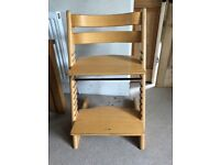 Stokke Tripp Trapp Baby High Chair, Natural Beech Wood, (Trip Trap)