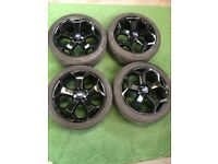 """FORD MONDEO GALAXY FOCUS TRANSIT CONNECT C-MAX S-MAX 18"""" ALLOY WHEELS BLACK"""