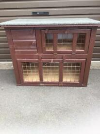 Rabbit hutch and accessories, bedding, food etc