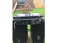 Pioneer ddj amp speakers