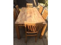 Royal Oak Table and 6 chairs