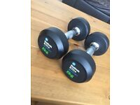 5kg Mens Health Elite Action+ fitness dumbells, perfect for teens, Hardly used.