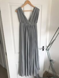 Light Grey Two Birds style multiway bridesmaid dress - size 10