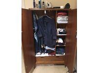 Wooden double pine wardrobe