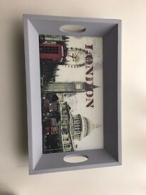 London Wooden Tray