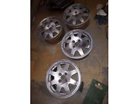 Clio williams alloys, set of 4, stripped ready for paint. No tyres or centre caps
