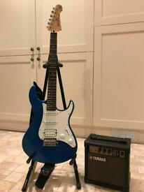 Pacifica Guitar with working amp and case