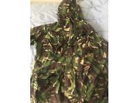 Various combat clothing, bag etc