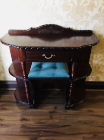Perfect for up cycling - telephone console table and stool