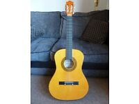 Herald HL34 Acoustic Guitar 3/4 size. Ideal beginners guitar for children
