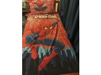 Spider-Man single duvet, pillow case & fitted sheet