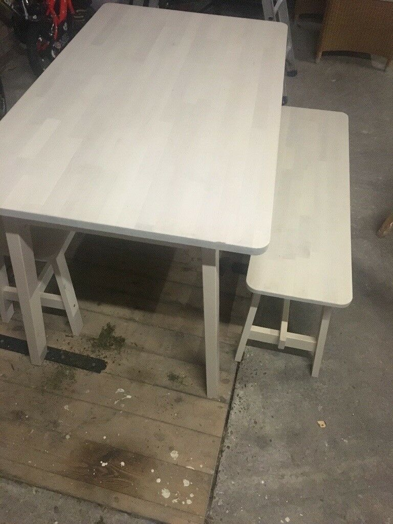 Cool Solid Birch Dining Table With Two Benches In Brough East Yorkshire Gumtree Gamerscity Chair Design For Home Gamerscityorg