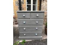 Painted chest of drawers and/or desk
