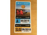 Discovery pass x 2 for Canada national parks valid until June 2018
