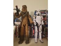 2 Star Wars figures. Chewbacca and Storm Trooper